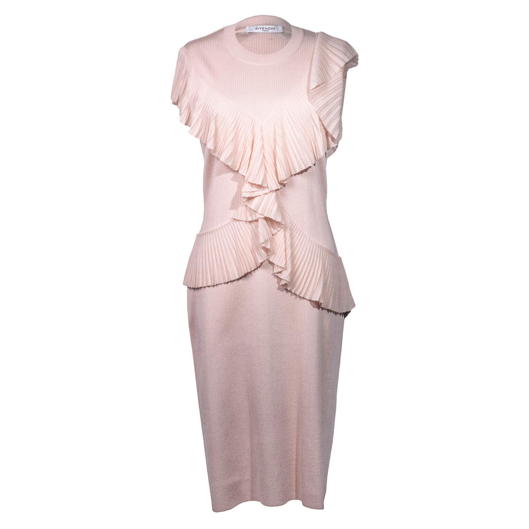 Givenchy Large Pink Ruffle Dress