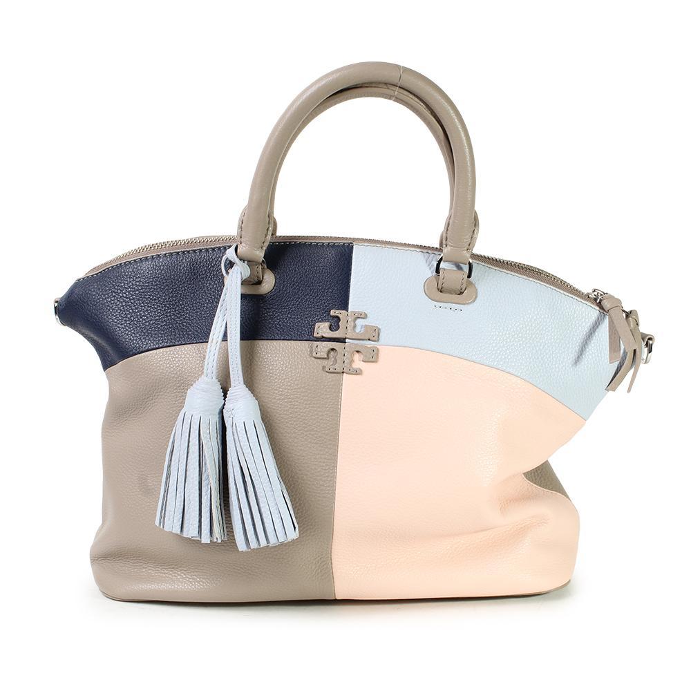 Tory Burch Leather Color Block Handbag