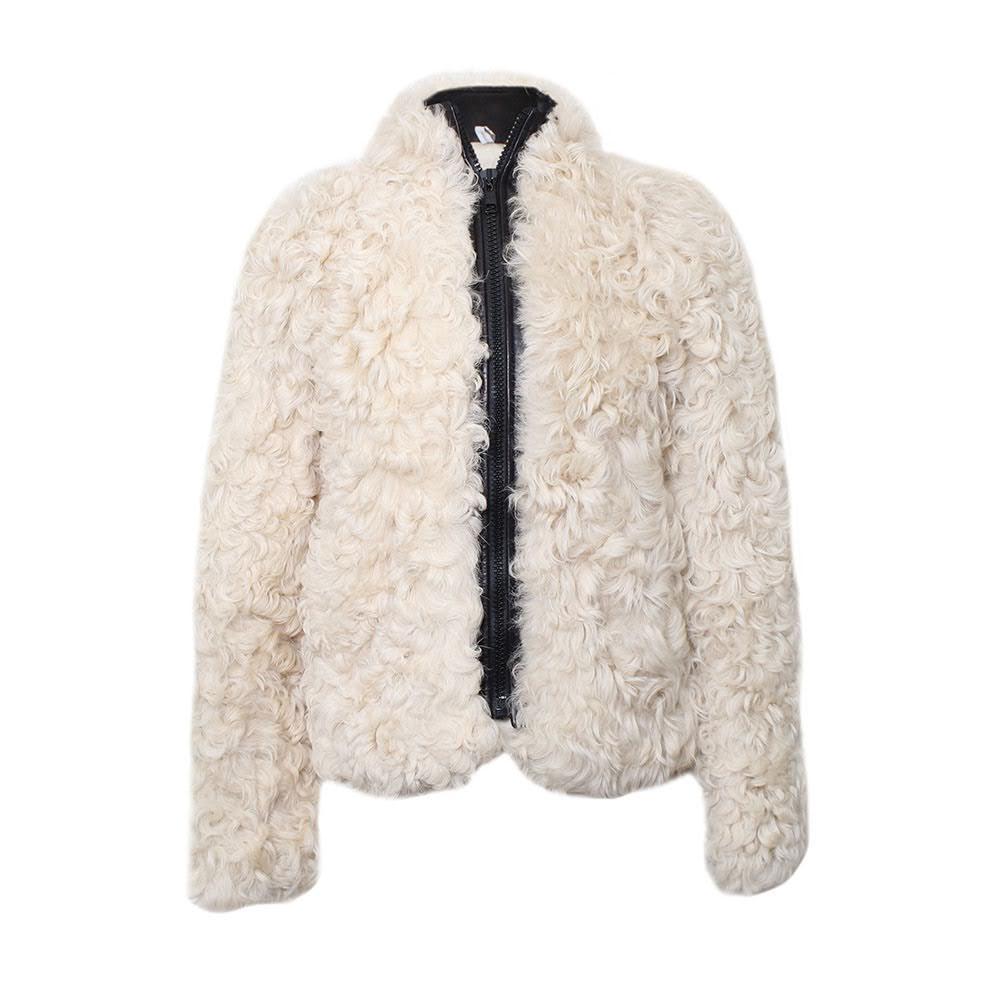 Curly Lamb Hair Size Small Jacket