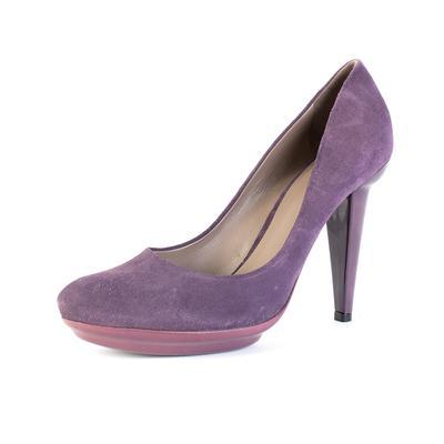 Bottega Veneta Size 39 Purple Suede Heel