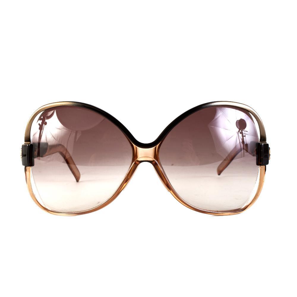 Balenciaga Gold/Brown Ombre Sunglasses