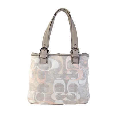 Coach Grey Logo Tote Bag