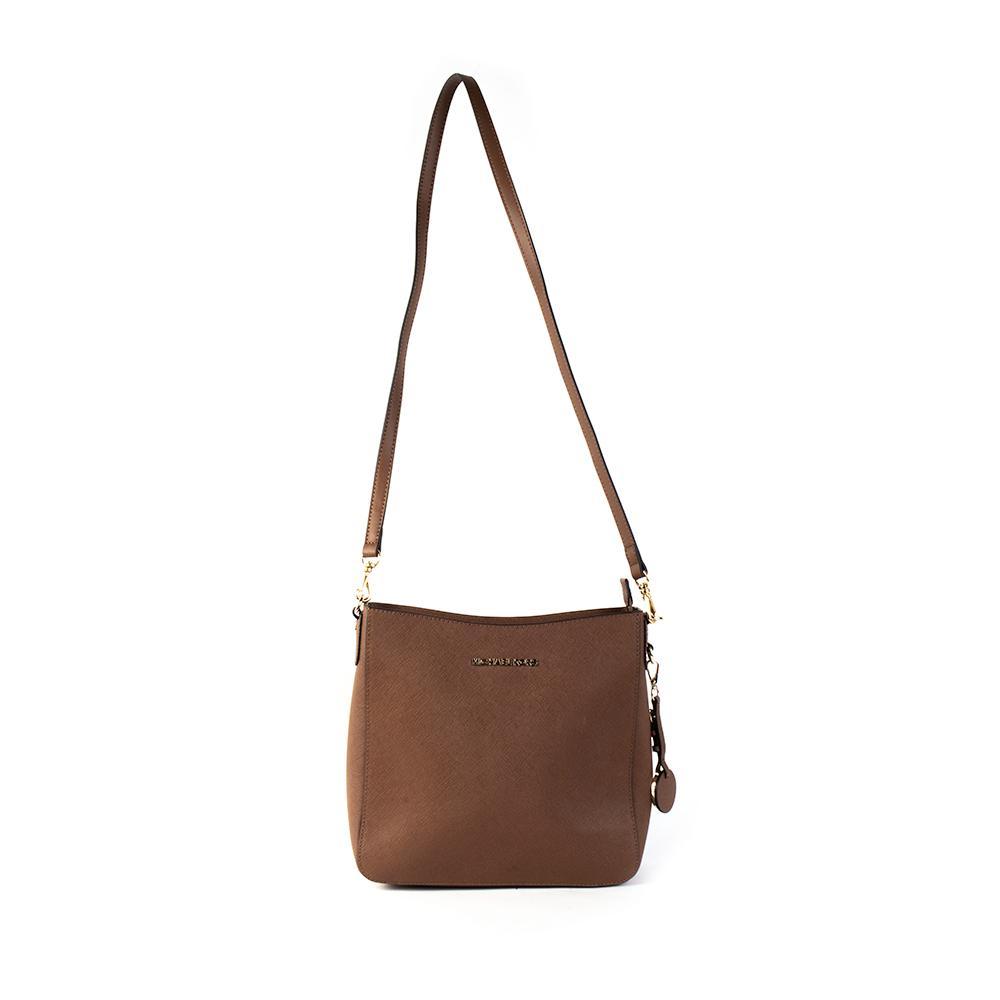 Michael Kors Brown Textured Cross Body Mid Handbag