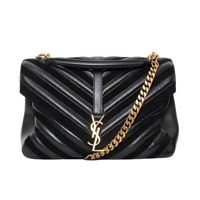 YSL Black Chevron Bag