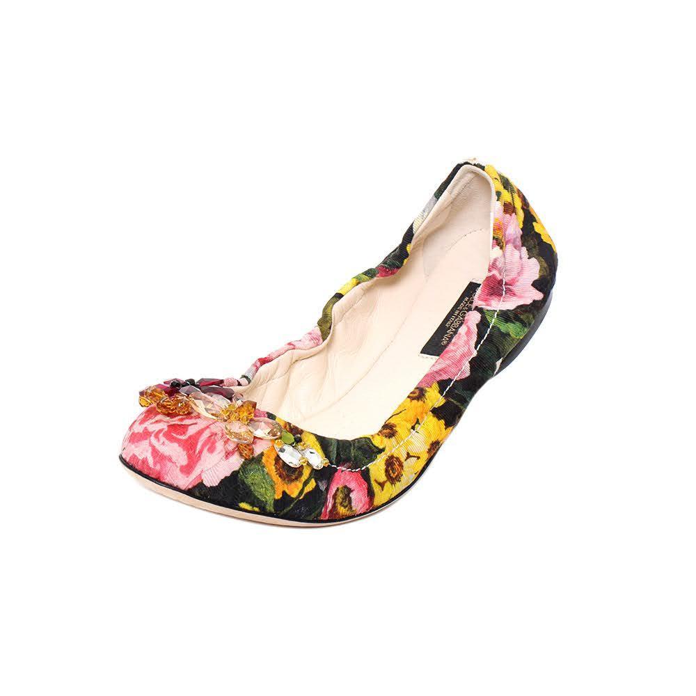 Dolce & Gabbana Size 36 Floral Flats