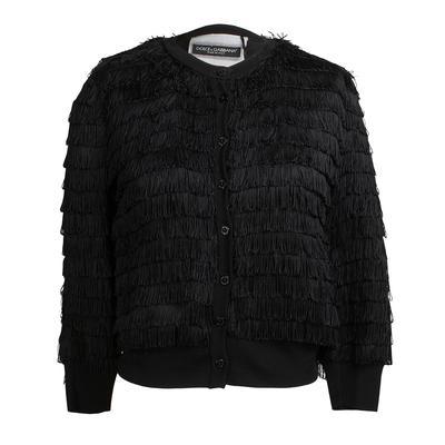Dolce & Gabbana Size 42 Special Edition Fringe Jacket