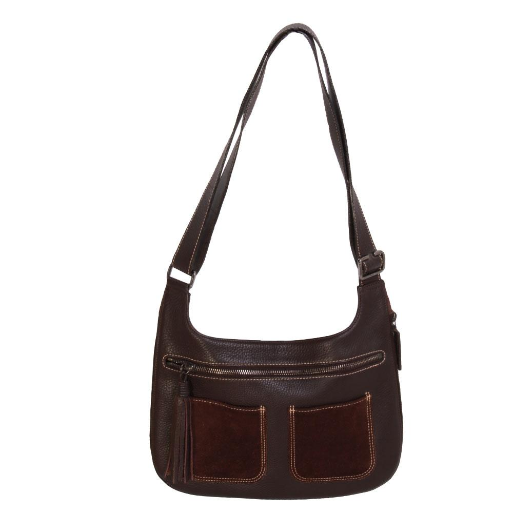 Longchamp Pebble Leather Handbag
