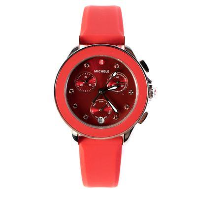 Michele Red Cape Chrono Watch