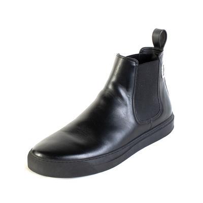 Valentino Size 10 Black Logo Chelsea Boots
