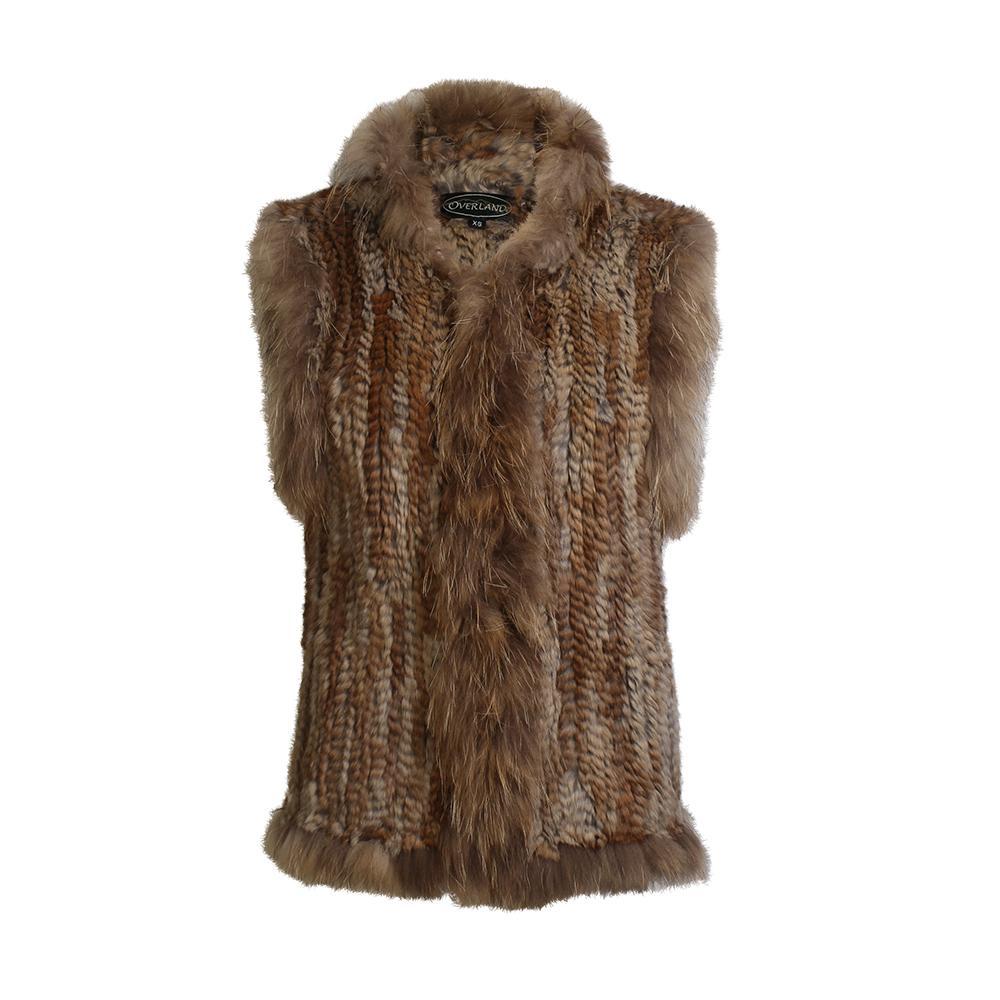 Overland Size Extra Small Rabbit & Raccoon Fur Vest