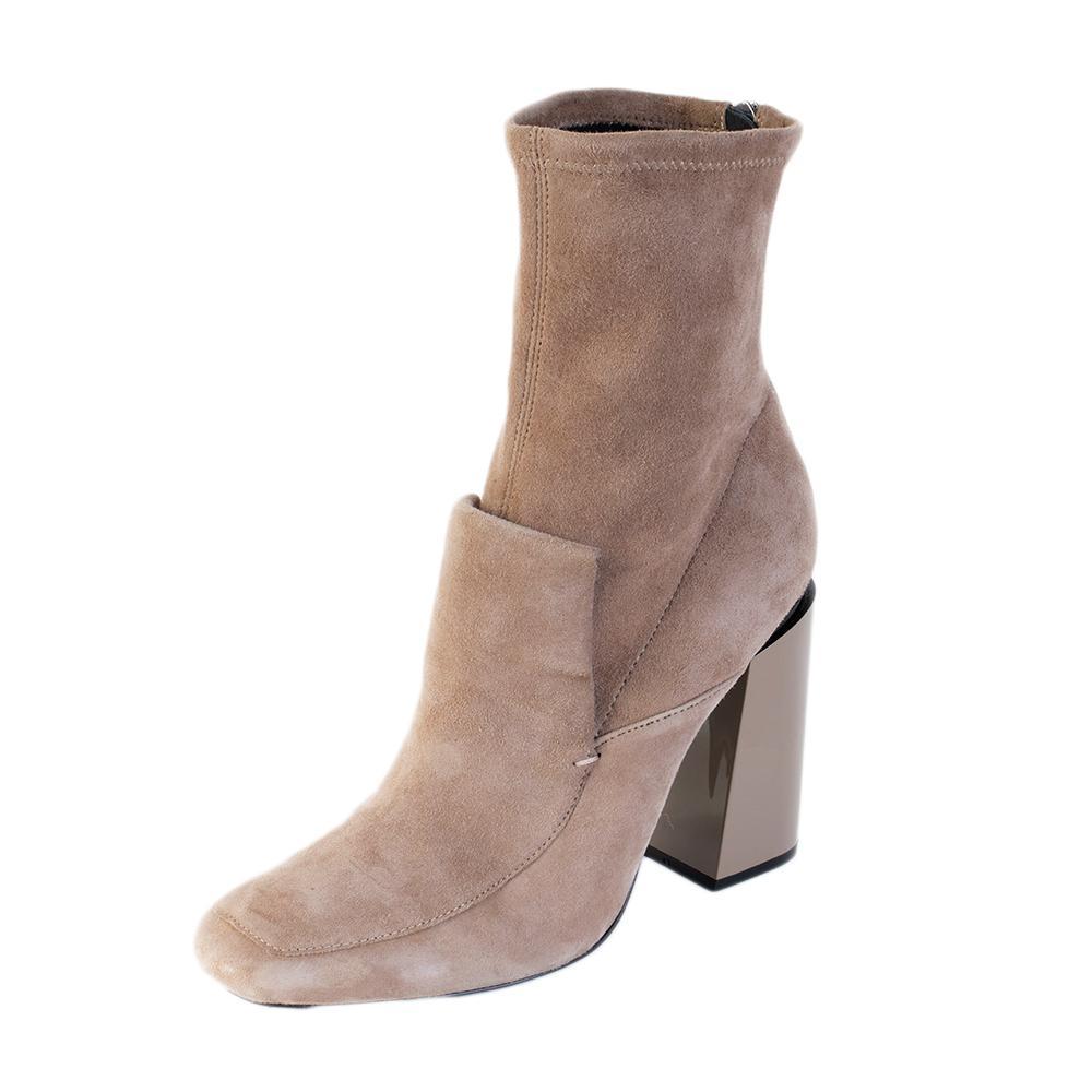 Sigerson Morrison Size 10 Grey Suede Boots