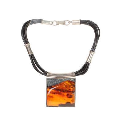 Mariusz Gliwinski Amber Pendant Necklace