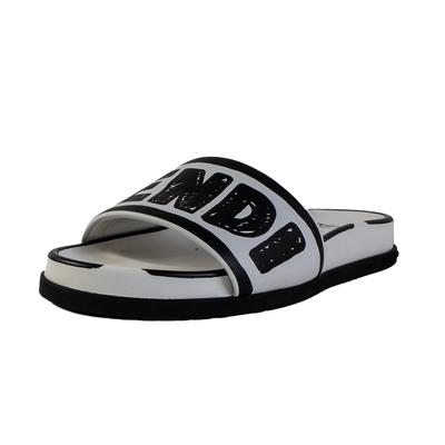 Fendi Size 38.5 White Sandal With Box