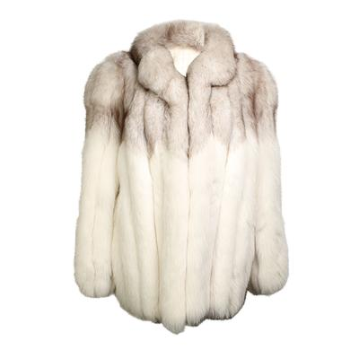 White Fox Fur Size Medium Jacket