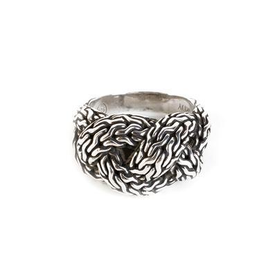 John Hardy Size 9 Classic Chain Braid Ring