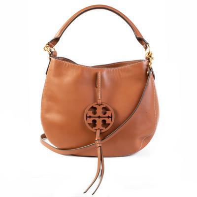 Tory Burch Brown Leather Hobo Bag