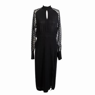 Balmain Size 40 Black Maxi Dress