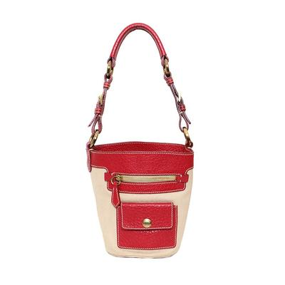 Prada Red Trim Bucket Bag