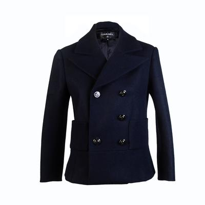 Chanel Size 36 Navy Pea Coat