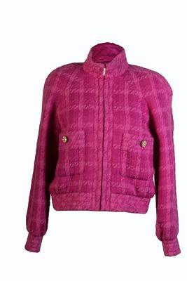 Chanel Size 38 Pink Bomber Jacket