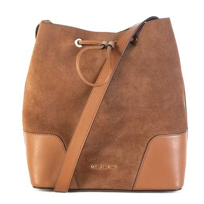 Michael Kors Brown Drawstring Bucket Bag