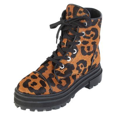 Schutz Size 7 Leopard Print Boots