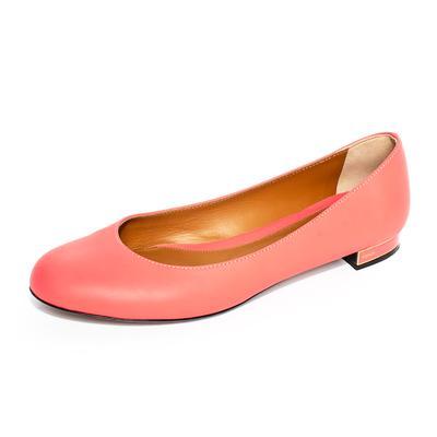 Fendi Size 39 Pink Leather Flats