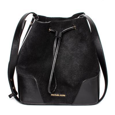 Michael M Kors Black Suede Bucket Bag