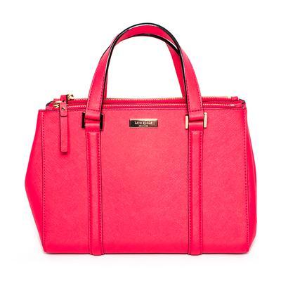 Kate Spade Pink Coated Canvas Crossbody Bag