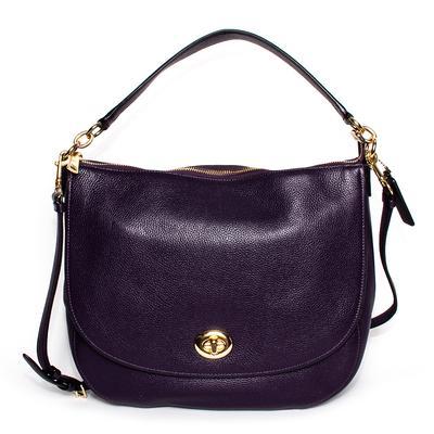Coach Purple Leather Satchel