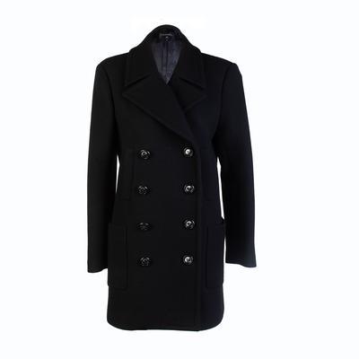 Chanel Size 36 Black Overcoat