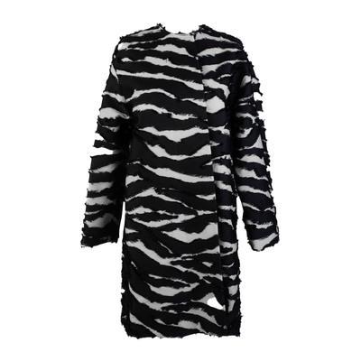 Oscar De La Renta Size 2 Black and White Coat