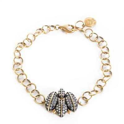 Freida Rothman Golden Link Bracelet