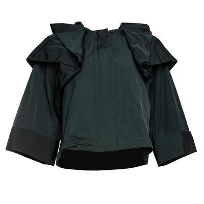 Alexander Wang Size Large Green Nylon Jacket