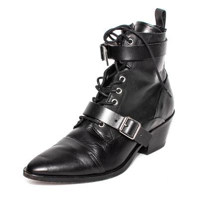 All Saints Size 39 Black Leather Boots