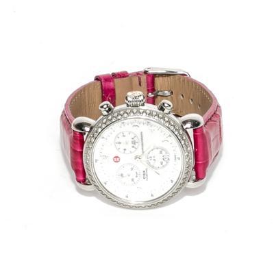 Michele Stainless Steel CSX Diamond Watch