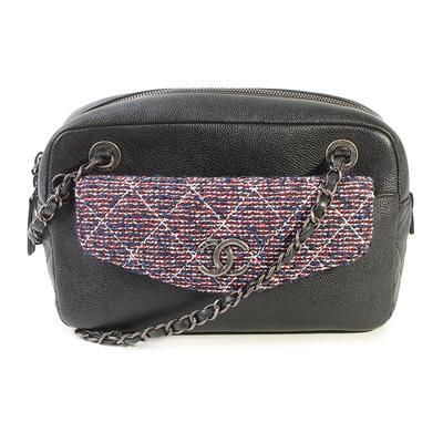 Chanel Caviar Leather Tweed Handbag
