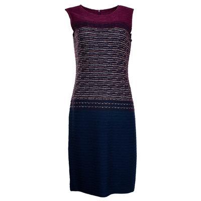 St. John Size 8 Purple Knit Dress