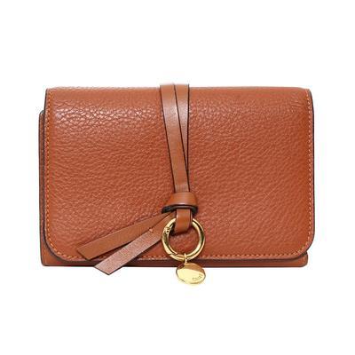 Chloe Brown Tri Fold Wallet