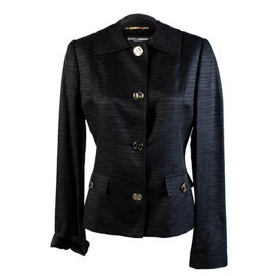 Dolce and Gabbana Size 44 Black Jacket