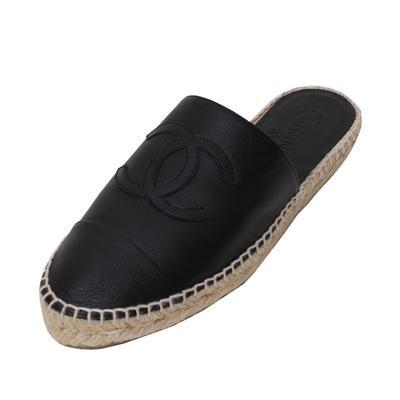 Chanel Size 41 Espadrille Mule