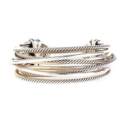 David Yurman Silver Crossover Cuff Bracelet