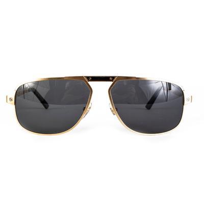 Cartier Gold Frame Sunglasses + Case