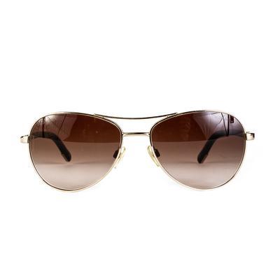 Chanel Aviator Dark Lense Sunglasses