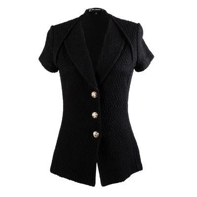 St. John Size 6 Black Short Sleeve Jacket