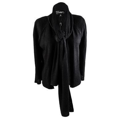 St. John Size Small Black Long Sleeve Knit Cardigan New