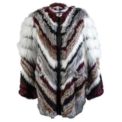 Elizabeth + James Size Small Rabbit Fur Jacket