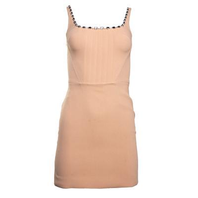 David Koma Size Small Beige Corset Mini Dress