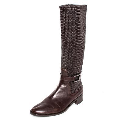 Aquatalia Size 11 Brown Leather Boots