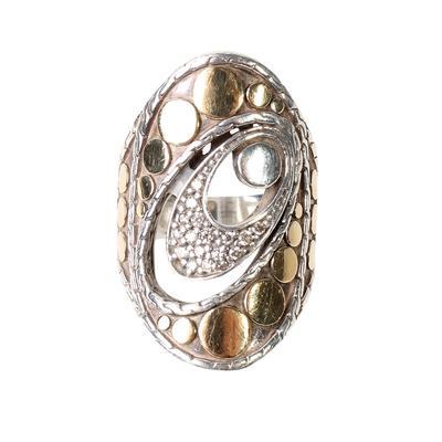 John Hardy Size 6.5 Pave Diam Trunk Show Ring